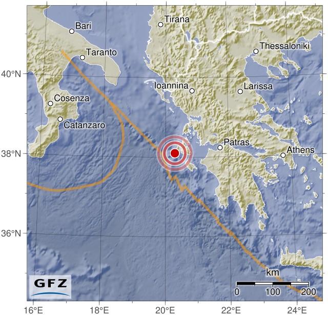 Heute wieder schweres Erdbeben bei Kefalonia