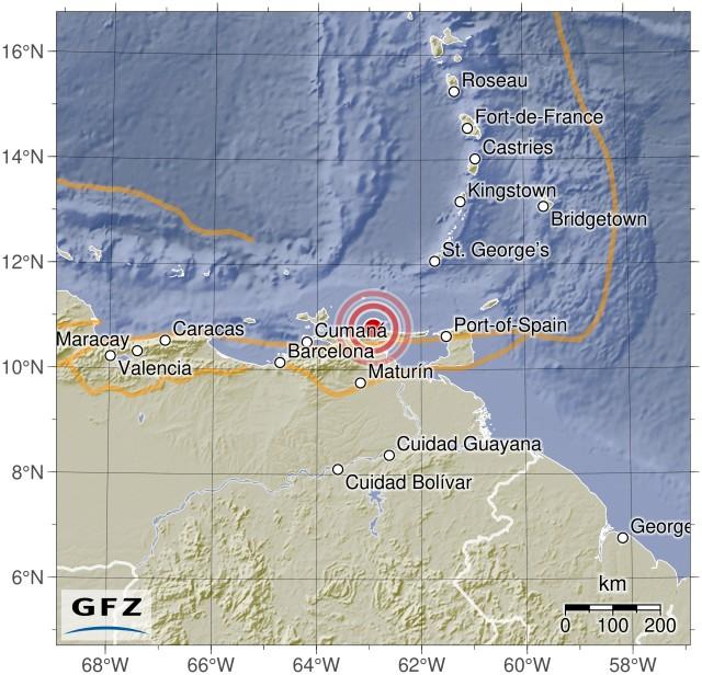 Fuerte terremoto 7.3 en las costas de Venezuela Gfz2018qjni